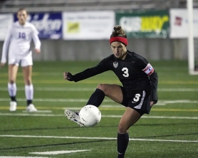 by: Miles Vance BIG FINISH — Tualatin senior Anna-Marie Popma scored her 100th career goal in the Class 6A state championship match.