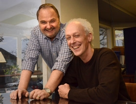 "by: VERN UYETAKE  Lake Oswego residents Don Flowers, left, and Fred Walton have written ""Ebenezer Ever After,"" based on Flowers' unpublished novel, ""The Spirit of the Season,"" a sequel to Charles Dickens' ""A Christmas Carol."""