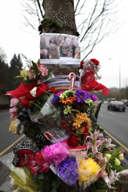 by: Jaime Valdez A memorial has been placed at the scene of a fatal crash on Nov. 22, which claimed the life of Stephanie Dusa, a 21-year-old Beaverton woman, who was ejected from the passenger seat of a car.