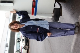 by: raymond rendleman The first city female letter carrier, Carole VanDomelen smiles as she heads out on one of her last shifts before retiring from the U.S. Postal Service.