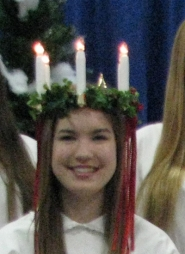 by:  Alexandra Husari was crowned Lucia of 2011 during the Scandinavian Heritage Foundation's festival this past weekend.