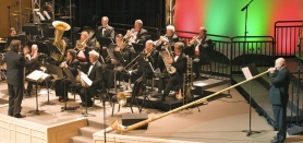 by: SUBMITTED PHOTO The Big Horn Brass band will perform a holiday concert as a fundraiser for West Linn High School, as well as Athey Creek and Rosemont Ridge middle schools featuring an authentic 12-foot Swiss Alphorn.