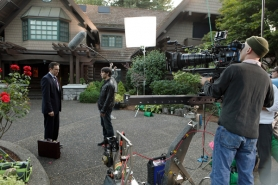"by: Scott Green In the episode ""Bears Will Be Bears,"" star David Giuntoli (center) meets guest star Currie Graham, whose family's bear-like tendencies were created by local special effects company Hive-FX."