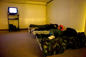 by: Jaime Valdez Guests spent Saturday night in the Severe Weather Shelter at the First Baptist Church of Beaverton.