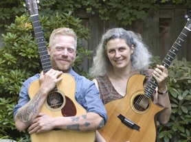 by: Submitted photo Matthew Hayward-MacDonald (left) and Nancy Conescu will perform Celtic music Dec. 21 at the Tualatin Heritage Center.