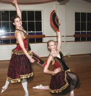 by: photos courtesy of Brittany Rea From left, Desiree Root and Kayla Adams rehearse a Russian dance for Mt. Hood Dance Academy's upcoming production of 'The Nutcracker.'