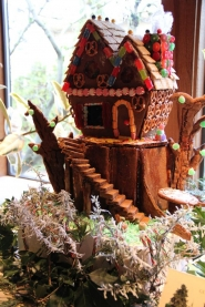 by: submitted photo This two-story tree house created by Gubanc's was grand prize winner in last year's gingerbread house competition. They received a trophy and bragging rights.