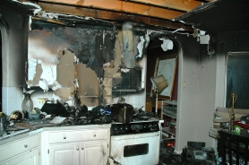 by: Submitted A fire that started on the stove in this Galewood Street home's kitchen caused an estimated $115,000 in damage and killed two dogs on Tuesday.