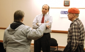 by:  State representative David Hunt came and spoke with some local residents during a town hall meeting in Estacada last week.
