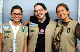 by: Submitted photo Local girls receiving Silver Awards for work in Girls Scouts were (from left) Amanda Smith, Katie Shultz and Laura Chapman.