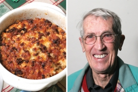 by: Jim Clark Bob Horswell was surprised his Breakfast Souffle won The Outlook Christmas recipe contest since he hadn't even tried the dish before he brought it in.