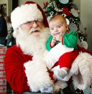 by: David F. Ashton Even very little kids feel comfortable with Santa, because of the quiet, comfortable environment in which he appears at Eastport Plaza, at Holgate Boulevard and S.E. 82nd Avenue of Roses.