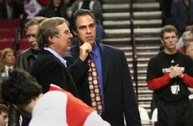 by: DENISE FARWELL Trail Blazers owner Paul Allen (left) confers with Kevin Pritchard before a March 2007 game. Allen gave his side to Pritchard's 2010 departure from the team during an interview before Monday night's preseason opener at the Rose Garden.