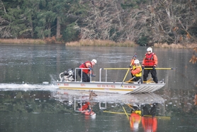 by:  Forest Grove and Banks firefighters rescued a deer trapped in a frozen pond last Wednesday morning.