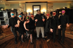 by: VERN UYETAKE Pictured from left, Dirk Brennan, Scarlett Strong, Robert Bowen, Michelle Ordes, Kristy Higgins, Patrick Warner, Susan Olsen, Stas Trilisky and Drew Dyson will be among those attending the masquerade ball.