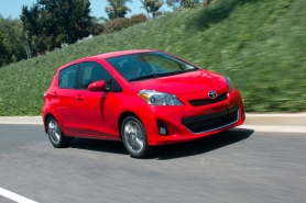 by: Courtesy of Toyota Motors For 2012, Toyota has updated just about everything with the Yaris, including its sharper-looking exterior styling.