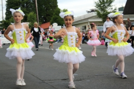 by: file photo Youngsters from the Sandy School of Dance march in the Sandy Mountain Festival parade.