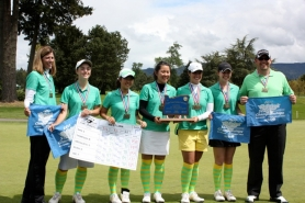 by: SUBMITTED PHOTO The West Linn girls golf team lived up to the highest expectations this spring, repeating as state champions and setting a state record with its score in the process.