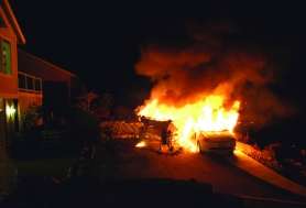 by: Courtesy photo BLAZE — A Dec. 23 fire destroys a fishing boat and Toyota Prius in on H Street in Columbia City.