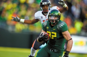 by: CHRISTOPHER ONSTOTT Oregon Ducks freshman tight end Colt Lyerla, from Hillsboro High, says he likes seeing family and friends in the stands at Autzen Stadium.