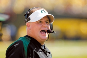 "by: CHRISTOPHER ONSTOTT Ducks coach Chip Kelly is a ""love-you-up kind of guy,"" says Oregon offensive tackle Darrion Weems."