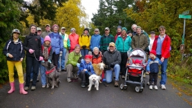 by: Submitted photo Hillsdale residents gather for the neighborhood's annual Thanksgiving Day walk.