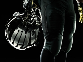 by: Courtesy of Nike Inc. Nike's new Pro Combat system uniform that the Ducks will unveil in the Rose Bowl features a new silver-winged helmet that shimmers under the lights.