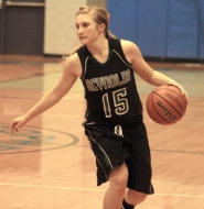 by: David Ball Reynolds Elle Stanfill dribbles around the perimeter during Friday's 75-39 win.