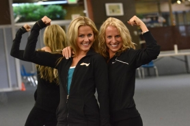by: VERN UYETAKE Maclasky, left, and Bertram  became fast friends when they met while living in California and their shared passion for fitness and running led them to open Lake Oswego Adventure Boot Camp.