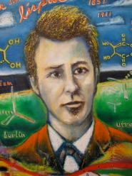 "by: Courtesy photo The portraits of scientists like Louis Pasteur, adorn ""100 Years of Organic Chemistry,"" on display through January."