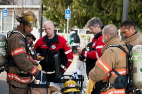 by: CITY OF PORTLAND Portland firefighters responded to a chemical explosion at David Douglas High School on Friday morning.