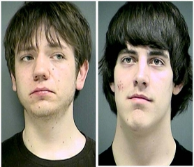 by: Courtesy of WCSO Cyral Callender, left, and Mikel Bonnet were arrested in connection with a series of car break-ins.