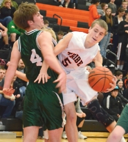 by: John Brewington HIGH SCORER—Scappoose's Blake Updike scored 42 points, including nine threes, to lead the Indians to a 67-59 win over visiting Estacada Tuesday evening, Jan. 10.