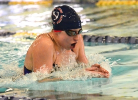 by: VERN UYETAKE Sarah Kaunitz scored two individual victories against West Linn, winning the 200 individual medley and the 100 freestyle.