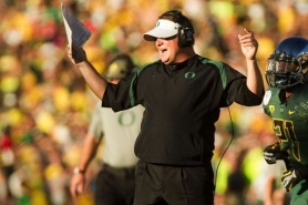 by: Christopher Onstott University of Oregon coach Chip Kelly reacts to a penalty call in the first half at this year's Rose Bowl in Pasadena. Several news reports said Sunday that Kelly was close to a deal to become the new head coach of the Tampa Bay Buccaneers. That changed early Monday, however.