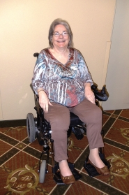 by: Holly Martin Sally Angelino helped spark the effort to get wheelchair access at Sandy Actors Theatre.