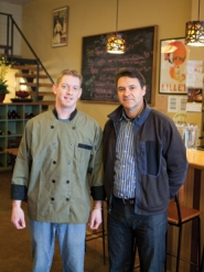 by: Chase Allgood Chef Jeremy McMurtry (left) and owner Christian Geffrard combine to make Stecchino an affordable fine dining experience in downtown Forest Grove. The pair is planning a special menu for Valentine's Day dinner Feb. 14, complete with soup, appetizer, main course and dessert.