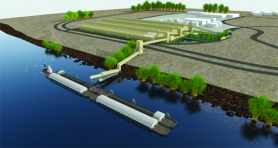 by: Courtesy photo BY BARGE — Ambre Energy and its subsidiary Pacific Transloading hope to utilize dock space at the Port Westward energy park near Clatskanie to barge coal from the Powder River region to the Asia-Pacific market as seen in the illustration above. Ambre officials say any operations at the Port of St. Helens-owned property would be enclosed, citing environmentalist concerns over coal dust.