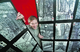by: Christopher Onstott Portland artist Aaron Voronoff Trotter has drawn more than 200 sketches of the city, many of which will be on display at the Architectural Heritage Center this month. He says there are still more places to sketch.