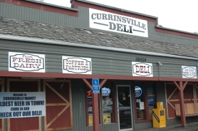 by: Jeff Spiegel The Currinsville Deli is located at 28424 S.E Eagle Creek Rd in Estacada.