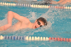 by: John Brewington GREAT SWIM—St. Helens' Andrew Collson turned in two phenomenal swims against Sherwood last week. He made up a body length in the last 25 yards of the 200 to down a previously unbeaten Sherwood swimmer.