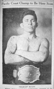 by: from The Outlook Archives World Champion wrestler 'Wildcat' McCann visited Gresham in 1932.