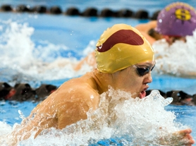 by: Chase Allgood Forest Grove senior Gabe Rooker swims to his third consecutive state title in the 100-yard breaststroke at Saturday's Class 6A state swimming championships in Gresham. Rooker also won a state title in the 50-yard freestyle.