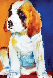 by: Steve Ludeman A painting by Welches watercolor artist Steve Ludeman shows Heidi's personality.