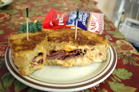 by: Jeff Spiegel One of the best items on the lunch menu is the Reuben, featuring freshly baked rye bread.
