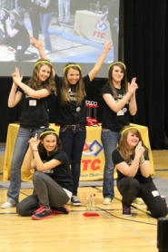 "by: Courtesy photo ""Charlie's Angels"" Kiley Bonin, Kyrie Coberley, Cassie Streblow, Emma Young and Sydney Young."