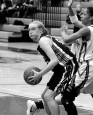 by: MATTHEW SHERMAN Nicole Blizzard had 13 points in Lakeridge's 47-35 loss to Southridge in the playoffs on Tuesday.