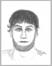 by: contributed graphic by MICHELLE CHASE Based on a conversation with the victim, this is a composite sketch of the alleged rapist, who called himself Howard.