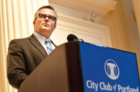 by: Nick Fochtman Portland Mayor Sam Adams gave his final State of the City address on Friday at the City Club.
