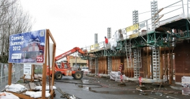 by: JIM CLARK Construction is under way on the new Riverview Community Bank scheduled to open in Gresham this